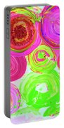 Abstract Flower Crowd Portable Battery Charger