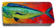 Abstract Mahi Mahi Portable Battery Charger