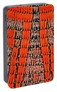 Abstract Oranges Blacks Browns Yellows Rows Columns Angles 3152019 5476 Portable Battery Charger