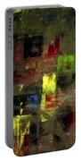 Abstract Patchwork Portable Battery Charger