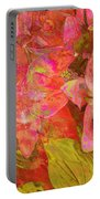 Abstract Pink Lilies Portable Battery Charger