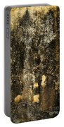 Abstract Scary Ocher Plaster Portable Battery Charger