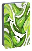 Abstract Waves Painting 0010081 Portable Battery Charger