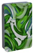 Abstract Waves Painting 0010087 Portable Battery Charger