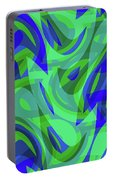 Abstract Waves Painting 0010094 Portable Battery Charger