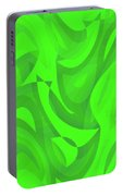 Abstract Waves Painting 0010100 Portable Battery Charger