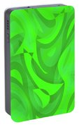 Abstract Waves Painting 0010101 Portable Battery Charger