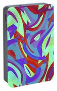 Abstract Waves Painting 0010102 Portable Battery Charger