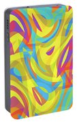 Abstract Waves Painting 0010109 Portable Battery Charger