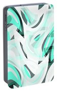 Abstract Waves Painting 0010111 Portable Battery Charger