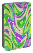 Abstract Waves Painting 0010113 Portable Battery Charger