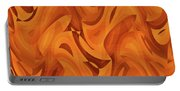 Abstract Waves Painting 001451 Portable Battery Charger
