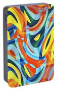 Abstract Waves Painting 007176 Portable Battery Charger
