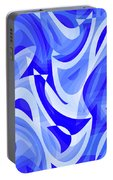 Abstract Waves Painting 007183 Portable Battery Charger