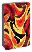 Abstract Waves Painting 007185 Portable Battery Charger