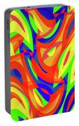 Abstract Waves Painting 007192 Portable Battery Charger