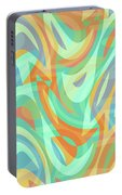Abstract Waves Painting 007202 Portable Battery Charger
