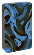 Abstract Waves Painting 007203 Portable Battery Charger