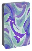 Abstract Waves Painting 007217 Portable Battery Charger