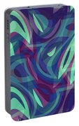 Abstract Waves Painting 007219 Portable Battery Charger