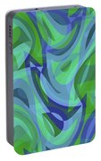 Abstract Waves Painting 007221 Portable Battery Charger