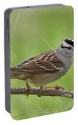 adult White-crowned Sparrow Portable Battery Charger