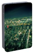 Aerial View Of Manhattan Skyline  Portable Battery Charger
