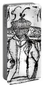 After Billy Childish Black Oil Drawing B2-5 Portable Battery Charger