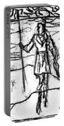 After Billy Childish Black Oil Drawing B2-7 Portable Battery Charger