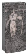 After Billy Childish Pencil Drawing 14 Portable Battery Charger