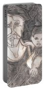 After Billy Childish Pencil Drawing 19 Portable Battery Charger
