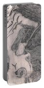 After Billy Childish Pencil Drawing 20 Portable Battery Charger