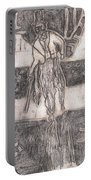 After Billy Childish Pencil Drawing 24 Portable Battery Charger
