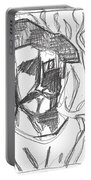 After Billy Childish Pencil Drawing B2-4 Portable Battery Charger