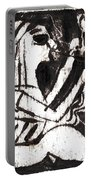 After Mikhail Larionov Black Oil Painting 1 Portable Battery Charger