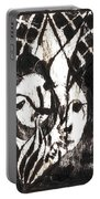 After Mikhail Larionov Black Oil Painting 14 Portable Battery Charger
