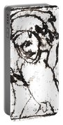 After Mikhail Larionov Black Oil Painting 16 Portable Battery Charger