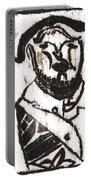 After Mikhail Larionov Black Oil Painting 2 Portable Battery Charger