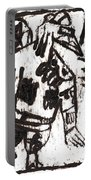 After Mikhail Larionov Black Oil Painting 3 Portable Battery Charger