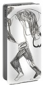 After Mikhail Larionov Pencil Drawing 12 Portable Battery Charger