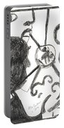 After Mikhail Larionov Pencil Drawing 13 Portable Battery Charger