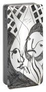 After Mikhail Larionov Pencil Drawing 14 Portable Battery Charger