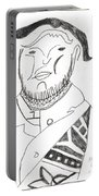 After Mikhail Larionov Pencil Drawing 2 Portable Battery Charger