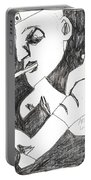 After Mikhail Larionov Pencil Drawing 4 Portable Battery Charger