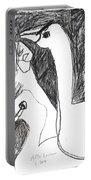 After Mikhail Larionov Pencil Drawing 5 Portable Battery Charger
