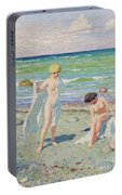 After The Swim  Oil On Canvas Portable Battery Charger