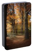 Afternoon Light In Fall Colors Of New England Portable Battery Charger