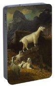 Albert_bierstadt_-_rocky_mountain_goats Portable Battery Charger