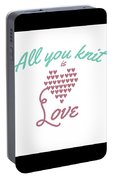 All You Knit Is Love Portable Battery Charger