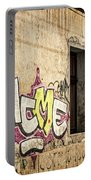 Alley Graffiti And Windows - Romania Portable Battery Charger